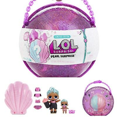 NEW L.O.L. SURPRISE! Pearl Surprise 2 Limited Edition Sister Shell Case Doll LOL