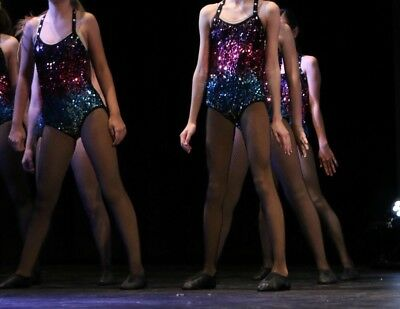 Glamour Costumes Sequin Leotard In Size LC /10y ( runs Small)