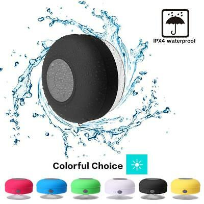 Waterproof Speaker Shower Bluetooth Handsfree Portable Speakerphone Mic Suction