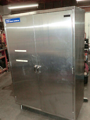 Stainless Steel Storage Cabinet Clean Room Two Door Cabinet Tool Cabinet