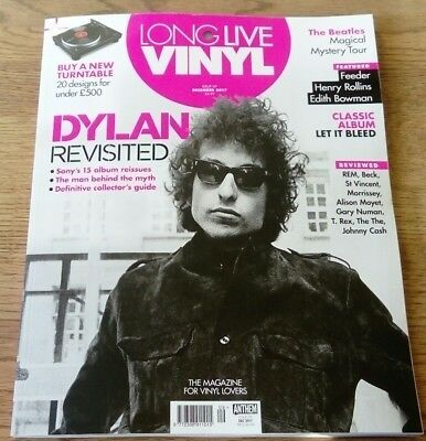 LONG LIVE VINYL MAGAZINE ISSUE 9 Dylan Revisited December 2017....NEW