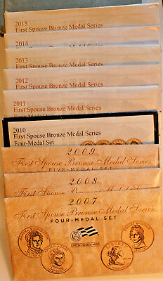 U.S. Mint First Spouse Bronze Medal Series 2007-2015
