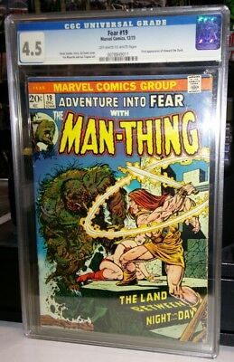 Marvel Adventure Into Fear Man Thing #19 Cgc 4.5 1St Appearance Howard The Duck