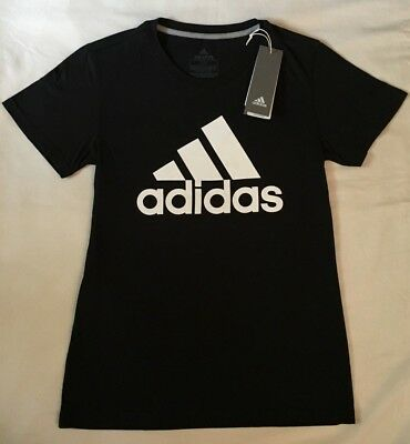ADIDAS WOMENS NEW TEE SHIRTS XS S M L XL BLACK WHITE GRAY PINK LADIES T-Shirts
