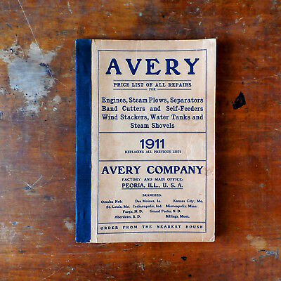 Antique Vintage 1911 AVERY Company Catalog Price List Repairs FARM Tractor