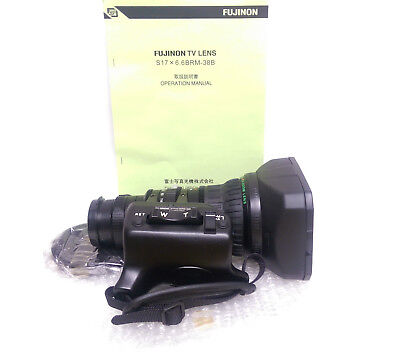 Fujinon S17x6.6BRM-38B 1/2inch Double Hot Shoe Mount SD Lens for Sony PDW, DSR