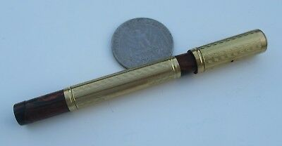 Antique French Art deco fountain pen Gold Plated vintage