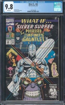 What If #49 Cgc 9.8 Nm/mt Wp Silver Surfer Possessed The Infinity Gauntlet