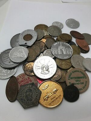 Mixed Token Lot, Weighs Almost One Pound (15oz)