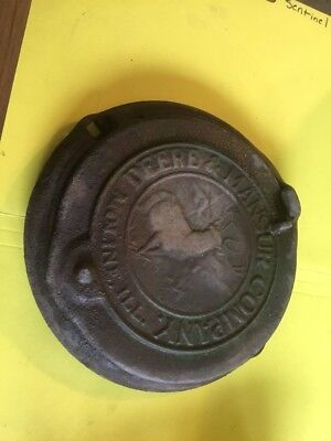 Antique John Deere Mansur Seed Corn Planter Lid Cover - Cast Iron ~ Moline, ILL