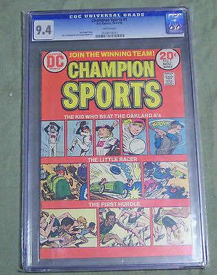 Champion Sports #1 Cgc 9.4 Wp 1973 Dc