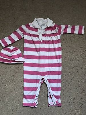 Ralph Lauren Girls Baby Grow And Hat