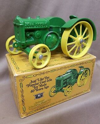 Vintage John Deere 1923 Model D Tractor Cast Iron Replica By ERTL in Box DieCast