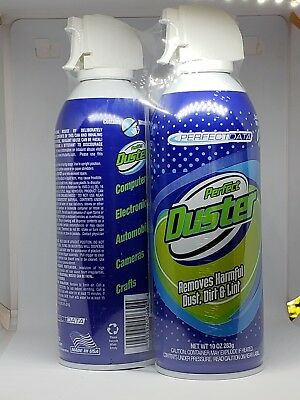 Canned Air Power Duster, 10 oz Can, 2/Pk