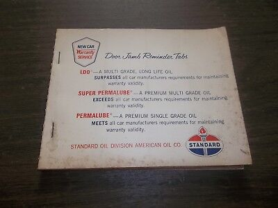 Vintage Standard Near Full Book Oil Change Stickers Gas Oil Advertising!