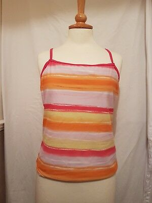 """MOTHERCARE"" Tankini / Vest Top. Size 12/14. Multi coloured stripes"
