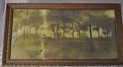 Vintage Print G Inness 1893 Home Of The Heron  Framed By Mages Chicago Framing