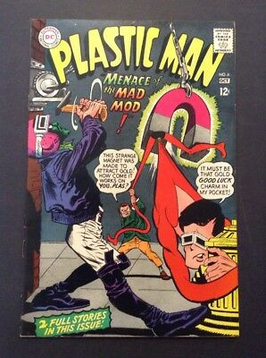 Plastic Man #6 (Sep-Oct 1967, DC) VINTAGE RARE COMIC BOOK SUPERHERO SERIES