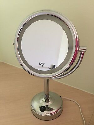 No 7 Illuminated Double Sided Magnified Make Up Mirror