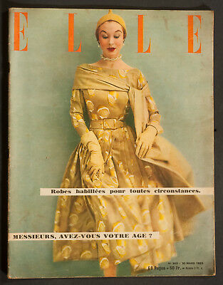 'elle' French Vintage Magazine 30 March 1953