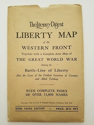 Liberty Map of the Western Front - WWI 1918
