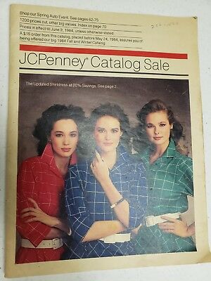 Collectible JC Penney Vintage Fashion Catalog 1984