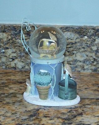 Hallmark Marjolein Bastin Winter Scene Snow Globe w/Watering Can, Antique Chair