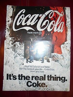 """1969 Coca-Cola """"It's the real thing. Coke."""" Magazine Advertisement"""