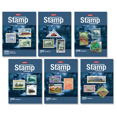 2019 Scott Standard Postage Stamp Catalogue Volume 1-6 Set