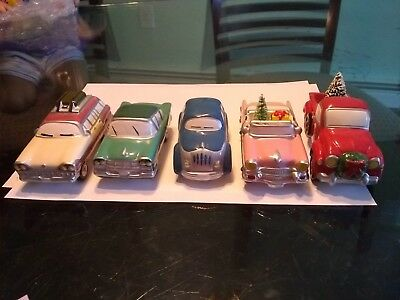 Department 56 Snow Village set of 5 classic cars
