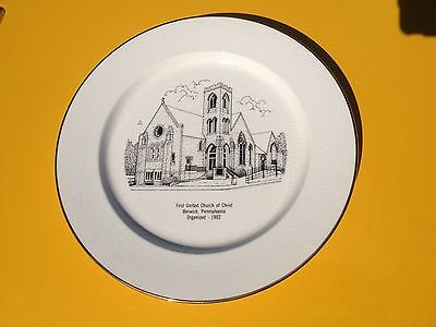 First United Church Of Christ Berwick Pa. Collectors Plate