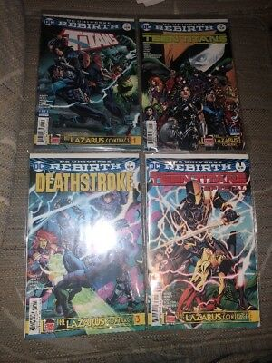 Lazarus Contract Parts #1 - 4 Full Set Titans Teen Titans Deathstroke