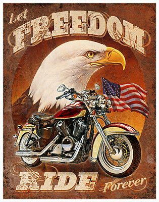 Let Freedom Ride  Novelty Sign   Funny Home Décor Garage Wall Plastic Gag Gift