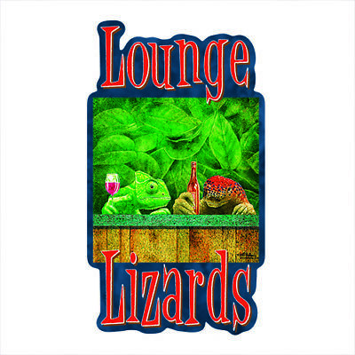 Lounge Lizards Novelty Sign   Funny Home Décor Garage Wall Plastic Gag Gift