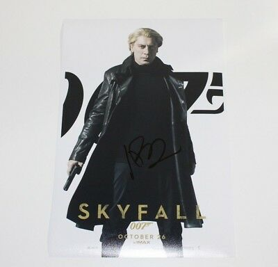 New Art Print of Autographed Photo 8 X 10 Javier Bardem In Skyfall