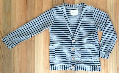 ESP No. 1 Lightweight Gray Striped Cardigan - Size 5T