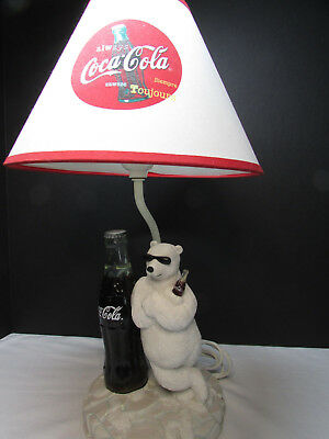 """Coca Cola Vintage Looking Coke Table Lamp,  18"""" Tall  Exc. Condition"""