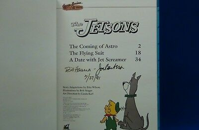 """Hanna-Barbera Signed """"The Jetsons"""" Special Edition Hardback Book"""