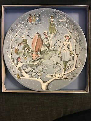 1977 Haviland Limoges Eight Maids a Milking Plate TWELVE DAYS OF CHRISTMAS