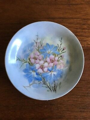 Vintage Hand Painted with Geraldton Wax Pin/Trinket Dish West Australian Flowers