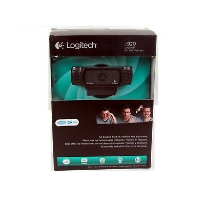 Logitech Webcam C920 Hd Pro 1080P Pc Mac Autofocus Dual Mic *new #1*  960-000764