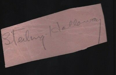 STERLING HOLLOWAY Hand Signed Autographed Clip w/COA - WINNIE THE POOH