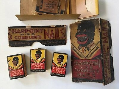 Vintage Lot NOS Chas. F. Baker SHARPOINT COBBLER'S NAILS Black Americana Boston