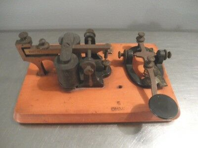 Antique Telegraph Key and Sounder J.H. Bunnell New York