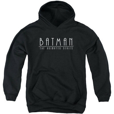 Batman Boys' Logo Hooded Sweatshirt Youth Medium Black Rockabilia