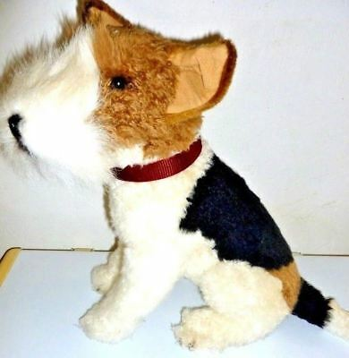 E&J Classic Wire Hair Fox Terrier Plush Toy Stuffed Animal Realistic Dog 20""