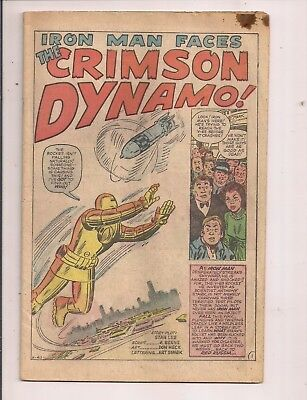 Tales Of Suspense #46 Iron Man Marvel 1963 Gold Suit Coverless