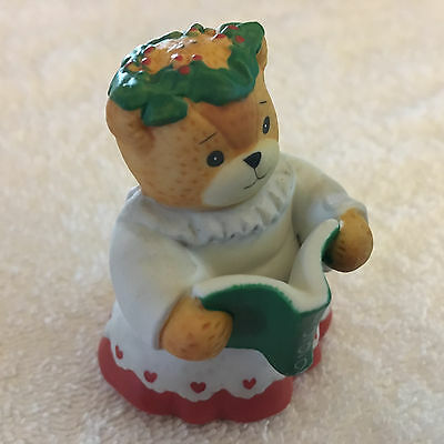 Lucy & Me Christmas Holiday Choir Girl Bear Singing Lucy Rigg ENESCO 1992