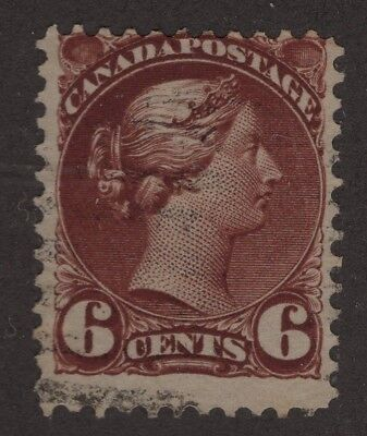 CANADA #43a Chocolate   SMALL QUEEN ISSUE 1890   FINE