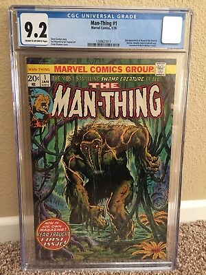Man-Thing #1 CGC 9.2 2nd appearance of Howard the Duck w/ Daredevil Black Widow